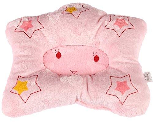Hot Newborn Baby Boy Girl Anti-Roll Pillow Flat Head Sleeping Positioner Star (Pink)