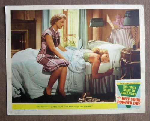 Cu27 Keep Your Powder Dry Lana Turner 1945 Lobby Card. Here'S A Terrific Lobby Card From The Original Release Of Keep Your Powder Dry Featuring A Great Image Of Lana Turner. Lobby Card Is In Excellent+ Condition. Some Pinholes, No Stains, No Tears. front-1034399