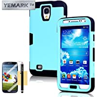 S4 Case, Galaxy S4 Case, YEMARK(TM) Fashion Hybrid High Impact Bumpers Slim Back Protective Case Cover For Samsung...