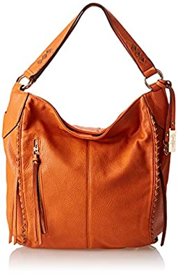 Jessica Simpson Dream Weaver Bucket Shoulder Bag,Pumpkin/Luggage,One Size