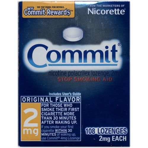 Nicorette Lozenges, 2 mg, 108-Count Box (Original Flavor)