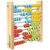 Infantastic - Ábaco de madera con 100 perlas coloridas - ideal para niños - peso: aprox. 400 g