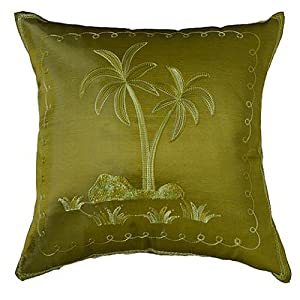 Decorative Pillow Palm Tree : Amazon.com - 2 Pcs Green Decorative Throw Pillow Covers 18 X 18 Palm Tree