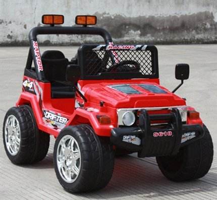 Ride on Jeep with 2 motors & 2 battery on Radio Remote Control Power Wheels R/C Toy Car For Kids