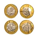 Godlucky Gold Plated 4 German Sexy Commemorative Coins With Boxes