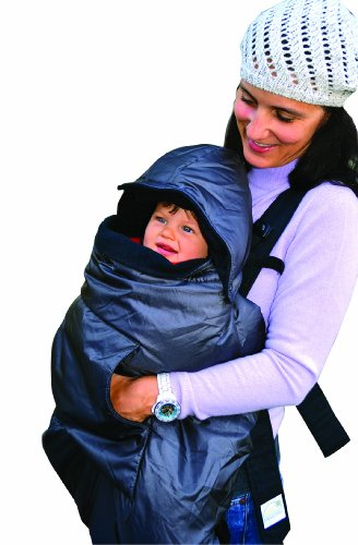 Tivoli Couture Mommy'S Hug Baby Carrier Cover And Wearable Blanket, London Gray front-577927