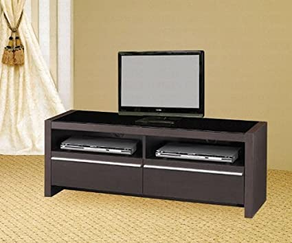 TV Stands Contemporary Media Console with Shelves and Drawers by Coaster