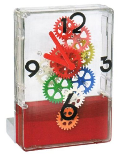 Fascinations GearUp Desktop Clock Multi-Color (Red Base)