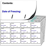 "256x Freezer Labels, FREEZER GRADE Self Adhesive Stickers. ""Contents: Date of freezing:"" For Use With Any Standard Pen or Biro."