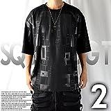 ビッグTシャツ モード系 ビッグTシャツ 五分袖 ビッグTシャツ 厚手 カットソー オーバーサイズ (F, ホワイト)