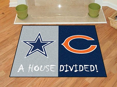 """NFL - Dallas Cowboys/Chicago Bears House Divided Rugs 34""""""""x45"""""""""""