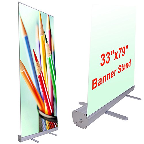 """Wholesale 33""""x79"""" Economy Retractable Roll up Banner Stand D"""