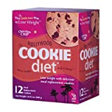 Hollywood Cookie Diet Meal Replacement Cookies, Chocolate Chip- 12 ct ~ Hollywood Cookie Diet