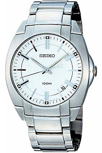 Seiko SGEB49P1 Men's Quartz,Stainless Case & Bracelet,100m WR,Brand New old Stock (Old Seiko Watches For Men compare prices)