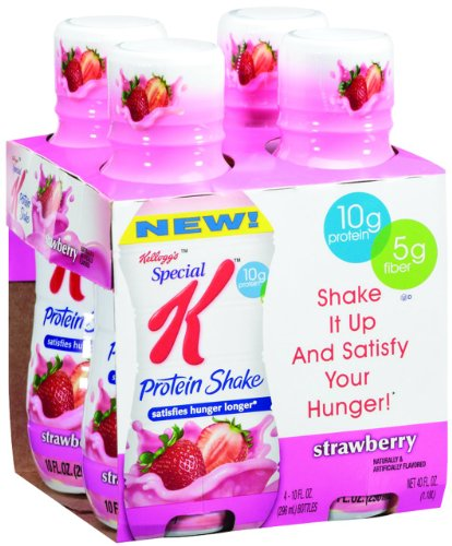 Special K Protein Shakes, Strawberry, 4-Count Bottles (Pack of 6)