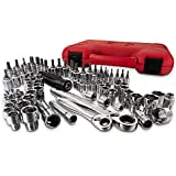 Craftsman 80pc Max Axess 1/4 & 3/8-in. Dr. Socket Wrench Set.includes Regular, Hex and Torx® Socket Sizes in Inch and Metric Ranges. Includes Case..