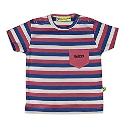 Buzzy Baby-Boys' Cotton T-Shirt (Pink,9-12M)