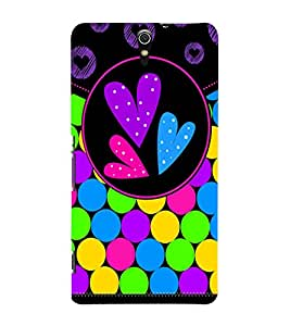 Color Bubbles 3D Hard Polycarbonate Designer Back Case Cover for Sony Xperia C5 Ultra Dual :: Sony Xperia C5 E5553 E5506 :: Sony Xperia C5 Ultra