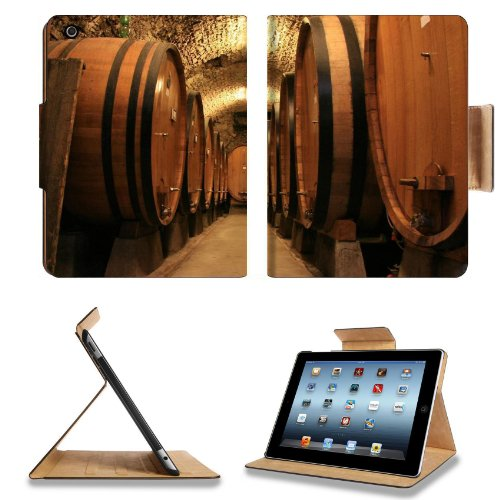 Making Wine Barrels Cellar Grapes Ferment Apple Ipad 2Nd 3Rd 4Th Flip Case Stand Smart Magnetic Cover Open Ports Customized Made To Order Support Ready Premium Deluxe Pu Leather 9 7/8 Inch (250Mm) X 7 7/8 Inch (200Mm) X 5/8 Inch (17Mm) Msd Ipad Profession front-592234
