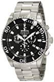 Invicta Men's 1020 Pro Diver Reserve Chronograph Black Dial Stainless Steel Watch