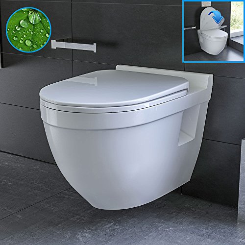 Wand Hänge WC / Design WC-Sitz mit Soft-Close Funktion