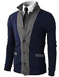 H2H Mens Two-tone Herringbone Jacket…