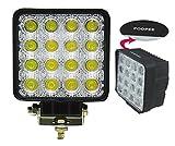 Amilliastyle LED 作業灯 ワークライト 48W 12V 24V対応 広角 サーチライト 防水 16連 1年保証(48W-S-N)