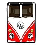 iPad Air Rubber Silicone Case - VW Bus Volkswagen Red Front of Bus