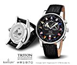 Kronsegler Triton Fishermens Watch Tidewatch steel-black Sport