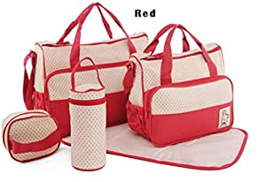 WenMei 5pc/Set Baby Changing Diaper Nappy Mummy Mother Handbag multifunctional Bags from WenMei