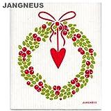 JANGNEUS 北欧スポンジワイプ リース レッド dishcloth (ヤングネウス)