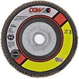 "CGW 42334 Premium Z3 Right Angle Grinder Abrasive Flap Disc, Type 29, Zirconia, 4-1/2"" Diameter, 60 Grit, 5/8""-11 Arbor, Regular Thickness  (Pack of 1)"