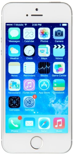 Apple iPhone 5S Smartphone (10,2 cm (4 Zoll) Retina Display, A7 Prozessor mit M7 Co-Prozessor, 8 Megapixel Kamera, 16GB interner Speicher, WiFi, 3,5mm Klinke, iOS 7) silber