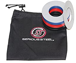 Serious Steel Fitness Olympic Fractional Plates w/ Bag   5 lb. Set: Gray 1/4 lb. Pair, Blue 1/2 lb. Pair, Red 3/4 lb. Pair & Black 1 lb. Pair   Designed for micro-loading 2\