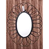 MIRALL DECOR DECORATIVE IRON WIRE FRAME OVAL SHAPE WALL MIRROR