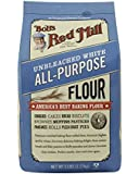 Bob's Red Mill Unbleached White Flour, 5-Pounds (Pack of 4)