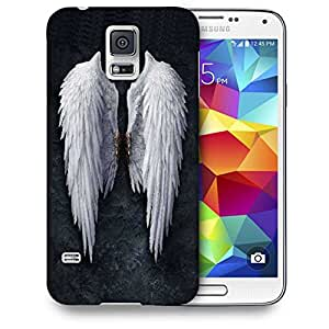 Snoogg Broken Angel Wings Printed Protective Phone Back Case Cover For Samsung S5 / S IIIII
