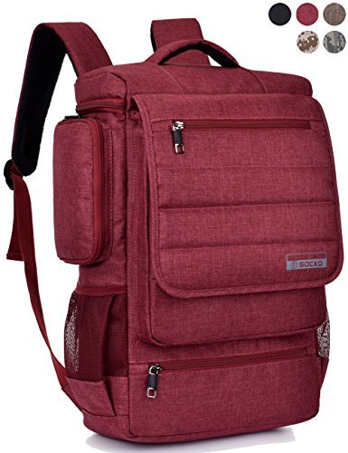 Laptop Backpack ,BRINCH(TM) Multifunctional Unisex Luggage & Travel Bags Knapsack,rucksack Backpack Hiking Bags Students School Shoulder Backpacks Fits Up to 17 Inch Laptop Macbook Computer,Red