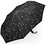 PLEMO Raindrops Automatic Folding Travel Umbrella