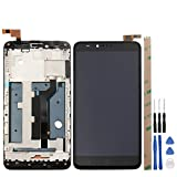 for ZTE Zmax Pro Z981 LCD Touch Screen Digitizer Full Assembly Broken Screen Replacement Parts with Small Kits - Black (Z981 with Frame) (Color: Z981 with Frame)
