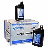 Stens 4-cycle Engine Oil for SAE30-SJ Wt, Twelve 32 Oz.btls