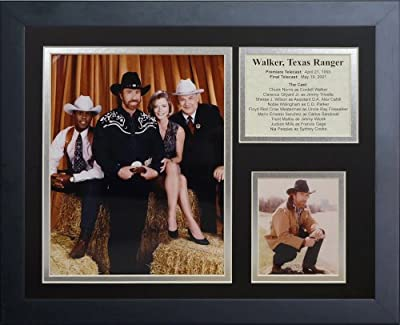 "Legends Never Die ""Walker Texas Ranger"" Framed Photo Collage, 11 x 14-Inch"