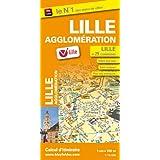 Plan de Ville de Lille et de son agglomération - Echelle : 1/15 000, avec index - Localisation des stations V'Lille