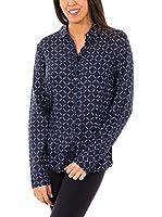 McGregor Camisa Mujer Aubree Mabel Ls (Azul / Blanco / Rojo)