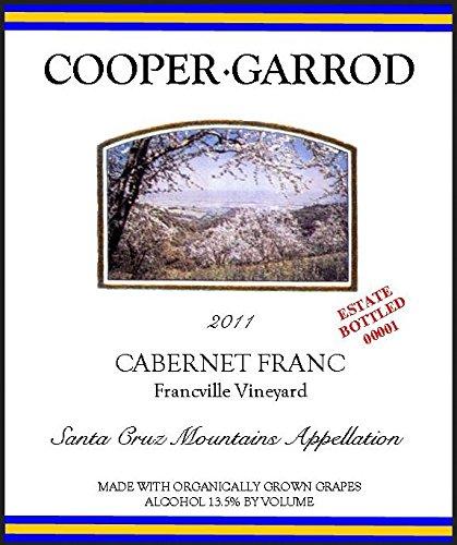 2011 Cooper-Garrod Francville Vineyard Santa Cruz Mountains Cabernet Franc 750 Ml