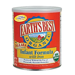 Earth's Best Organic Infant Formula with Iron, DHA, Canister