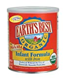 51f6F8pObiL. SL160  Earths Best Organic Infant Formula with Iron, DHA & ARA,  23.2 Ounce Canisters (Pack of 4)