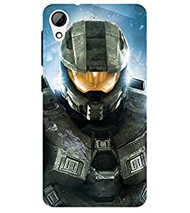 Chiraiyaa Designer Printed Premium Back Cover Case for HTC Desire 628 (robot astronaut gighter gun) (Multicolor)