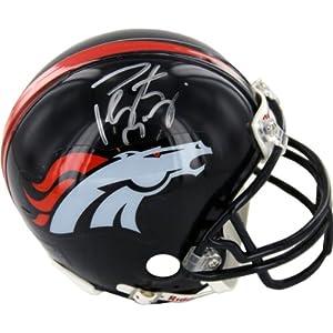 NFL Denver Broncos Peyton Manning Autographed Mini Helmet by Steiner Sports