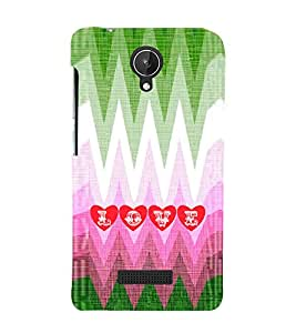 EPICCASE funky love Mobile Back Case Cover For Micromax Canvas Spark Q380 (Designer Case)